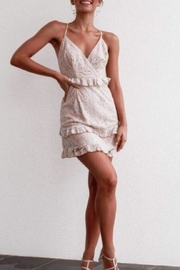 Chikas Floral-Embroidered Lace Dress - Product Mini Image