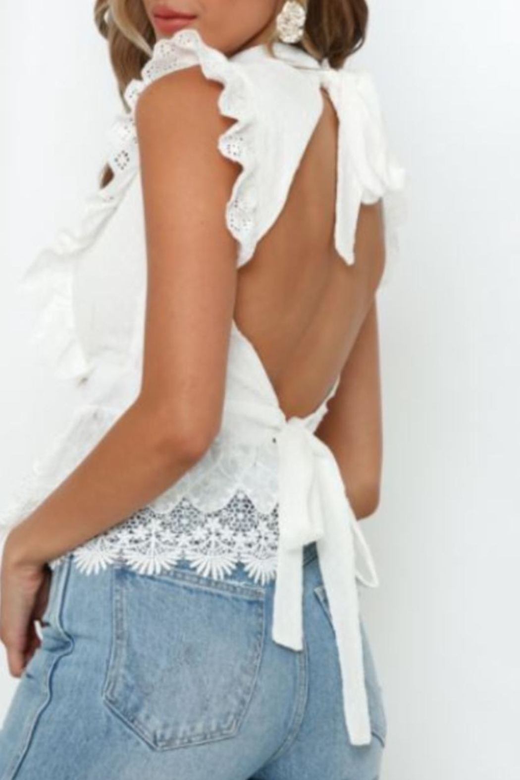 Chikas Floral Lace Top - Front Full Image