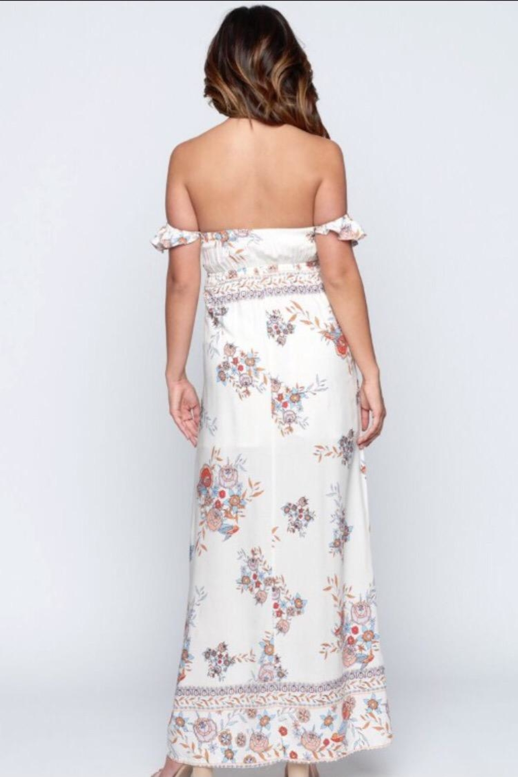 Chikas Floral Maxi Dress - Front Full Image