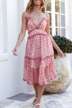 Chikas Floral Midi Dress - Product List Image