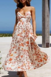 Chikas Floral Midi Dress - Front cropped