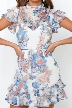 Chikas Floral Mini Dress - Product List Image