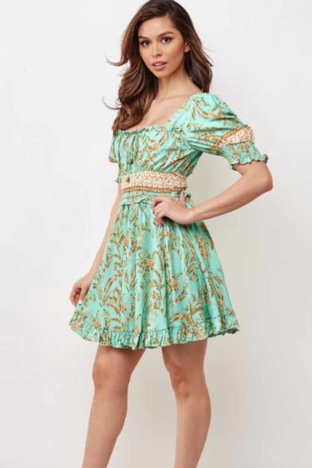 Chikas Floral Mini Dress - Main Image