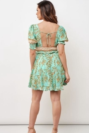 Chikas Floral Mini Dress - Front full body