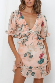 Chikas Floral Mini Dress - Product Mini Image