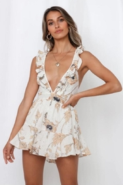 Chikas Floral Mini Romper - Product Mini Image