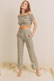Chikas Floral Pants Set - Front cropped