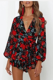 Chikas Floral Romper - Product Mini Image
