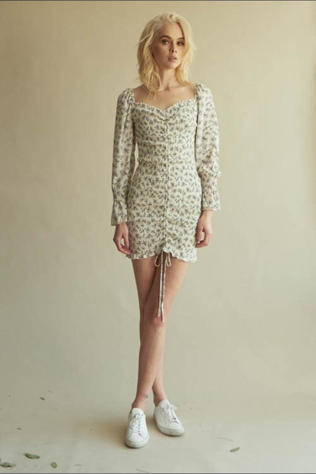 Chikas Floral Ruched Dress - Main Image
