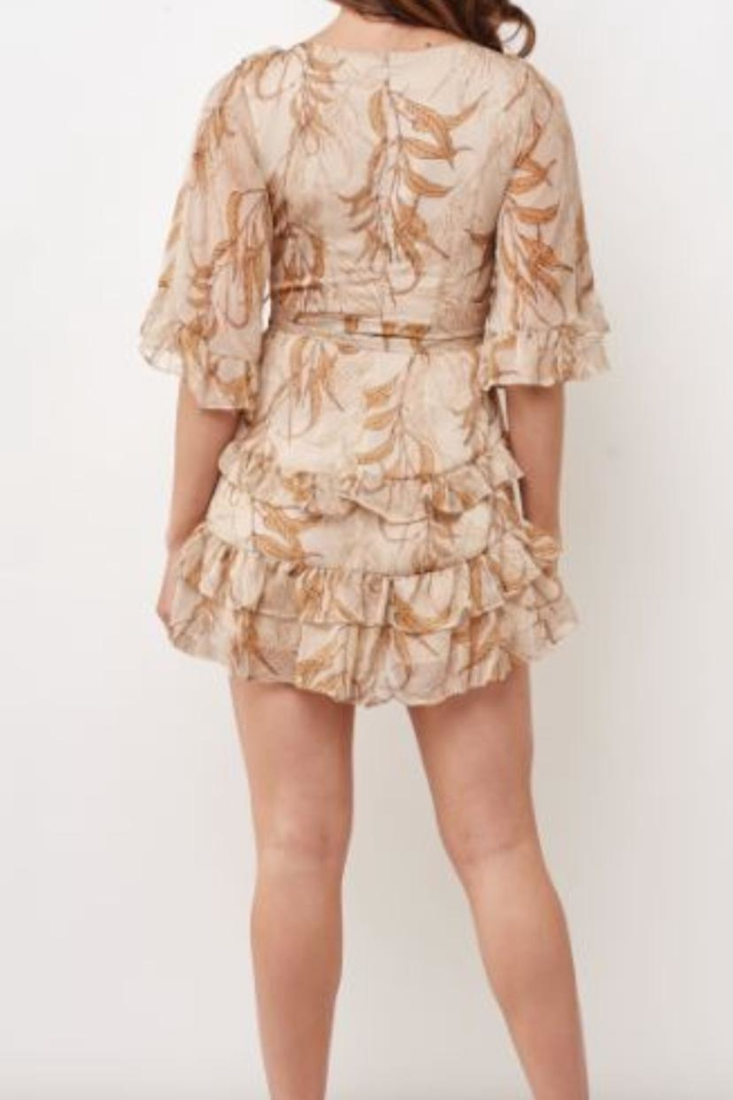 Chikas Floral Tiered Dress - Front Full Image
