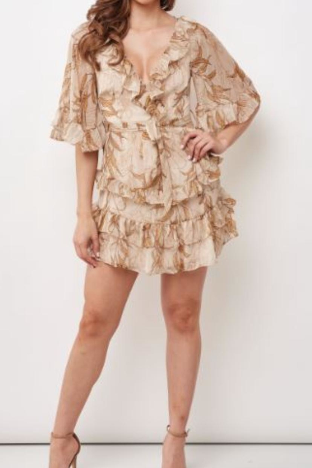 Chikas Floral Tiered Dress - Main Image