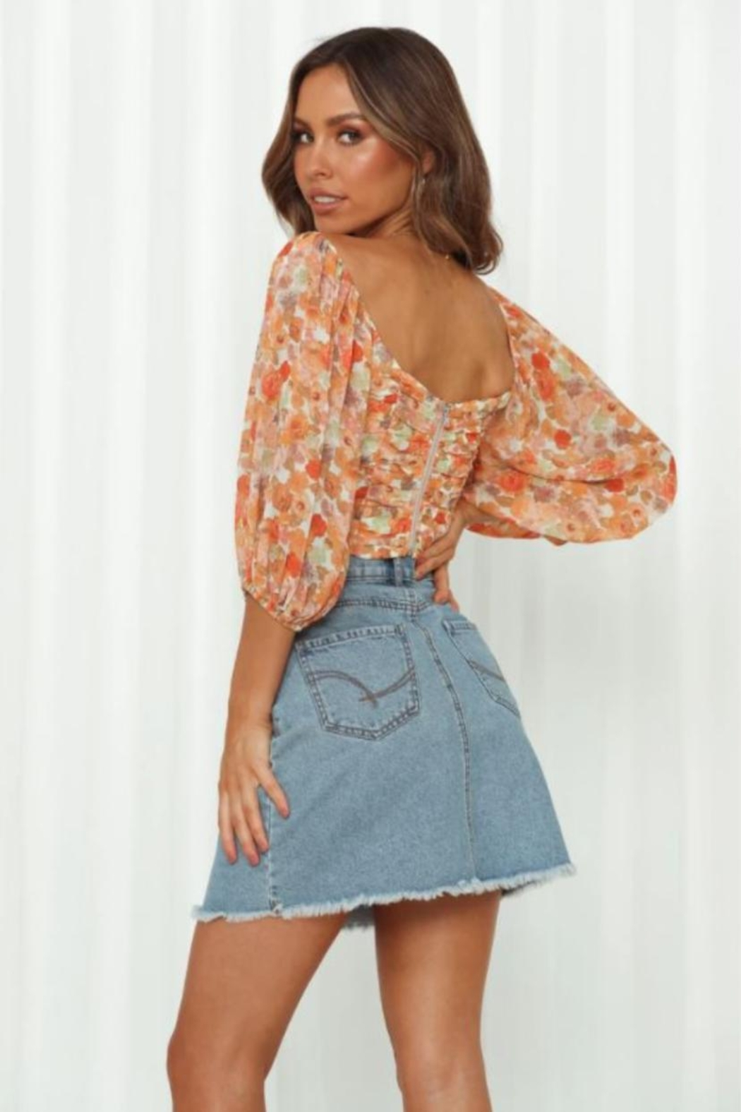 Chikas Floral Top - Front Full Image