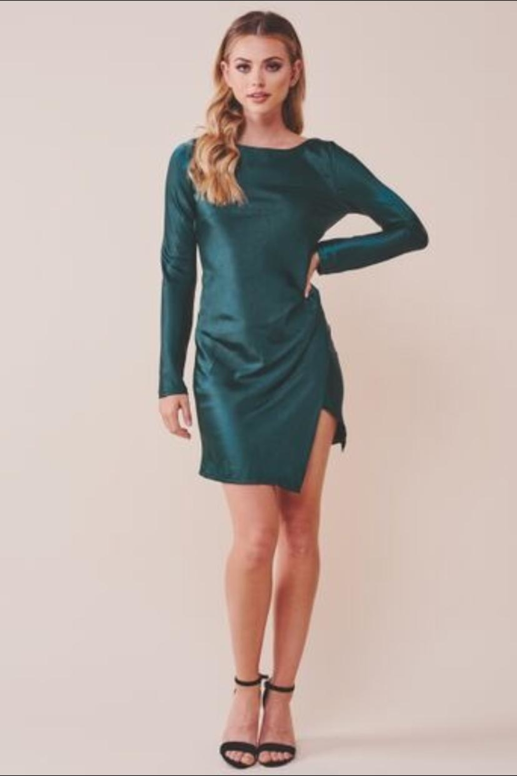 Chikas Forest Green Dress - Main Image