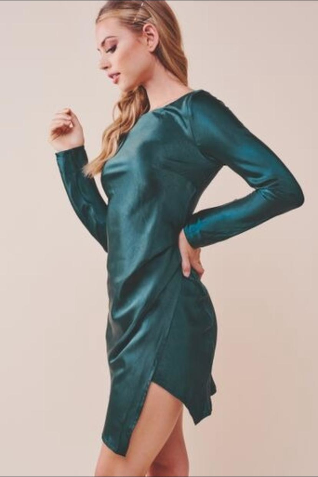 Chikas Forest Green Dress - Front Full Image