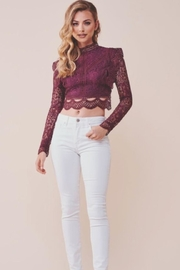 Chikas Lace Crop Top - Product Mini Image