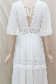 Chikas Lace Trim Dress - Front full body