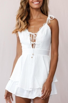 Chikas Lace Trim Romper - Product List Image