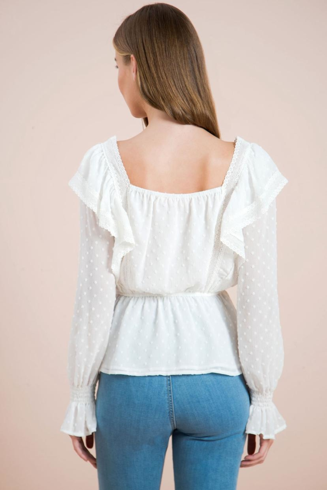Chikas Lace Trim Top - Side Cropped Image