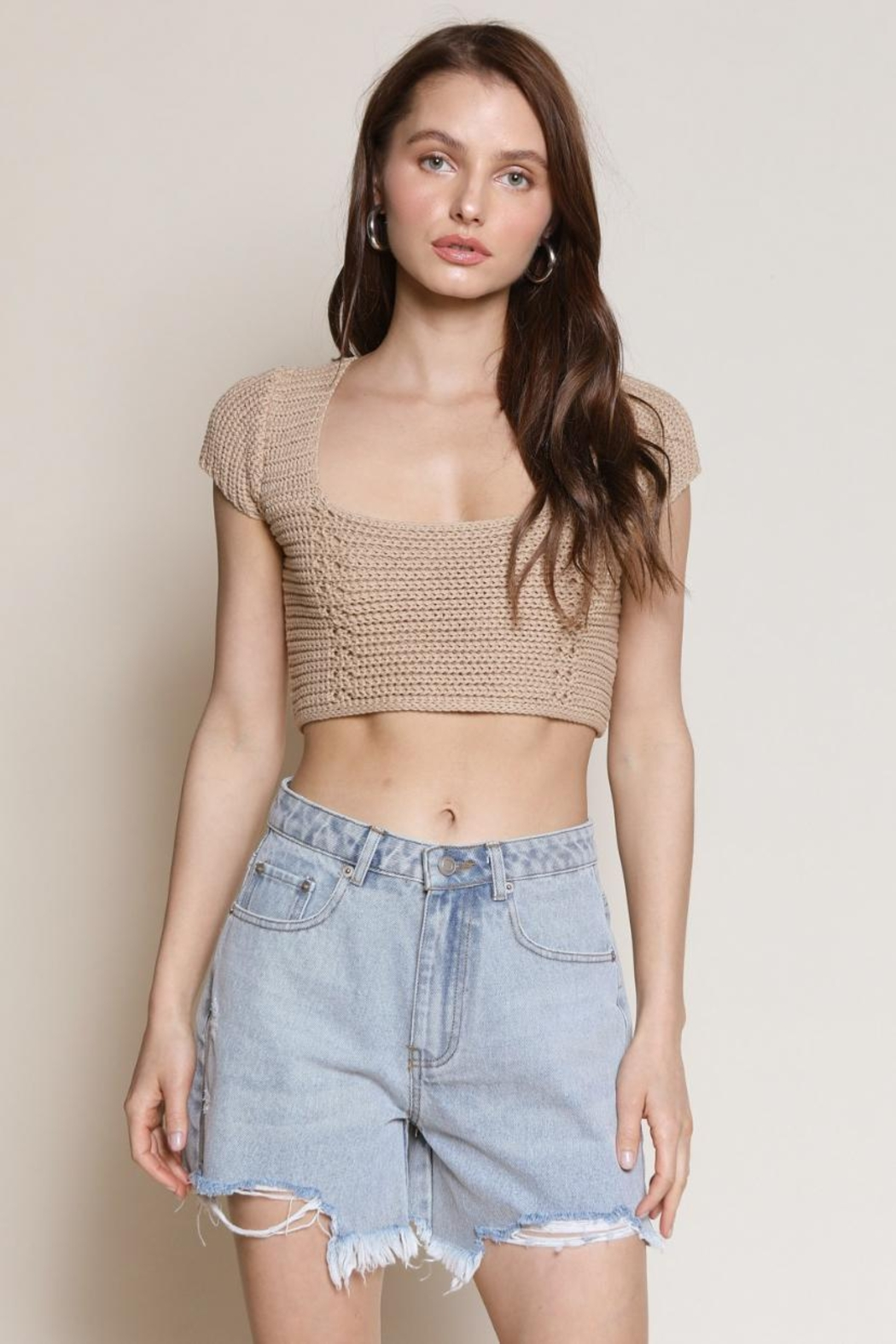 Chikas Lace-Up Back Top - Main Image