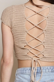 Chikas Lace-Up Back Top - Front full body