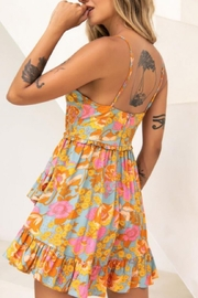 Chikas Layered Floral Dress - Front full body