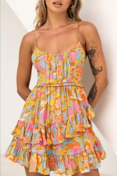 Chikas Layered Floral Dress - Product List Image