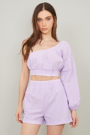Chikas Linen Shorts Set - Front cropped