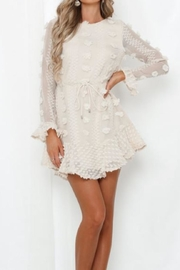 Chikas Long-Sleeve Beige Dress - Product Mini Image