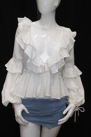Chikas Long-Sleeve Ruffled Top - Product Mini Image
