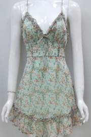 Chikas Mint Floral Dress - Product Mini Image