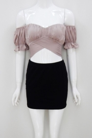 Chikas Mocha Crop Top - Front cropped