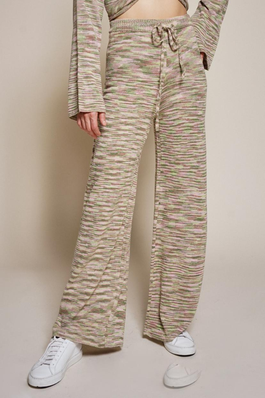 Chikas Multicolored Pants Set - Back Cropped Image