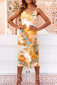 Chikas Multicolored Slip Dress - Product List Image
