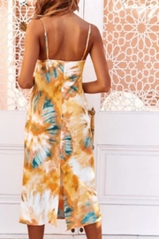Chikas Multicolored Slip Dress - Front full body