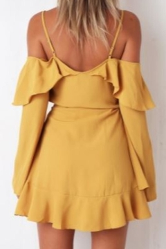 Chikas Mustard Cold-Shoulder Dress - Alternate List Image