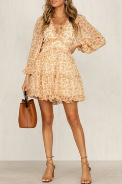 Chikas Mustard Floral Dress - Product List Image