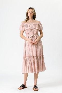 Chikas Off-Shoulder Ditsy Dress - Product List Image