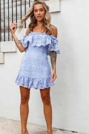 Chikas Off-Shoulder Lace Dress - Product Mini Image