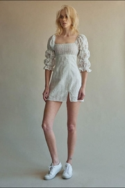 Chikas Off-White Eyelet Dress - Front cropped