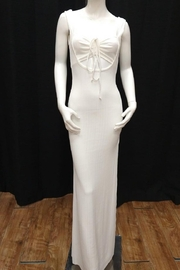 Chikas Off-White Maxi Dress - Front cropped