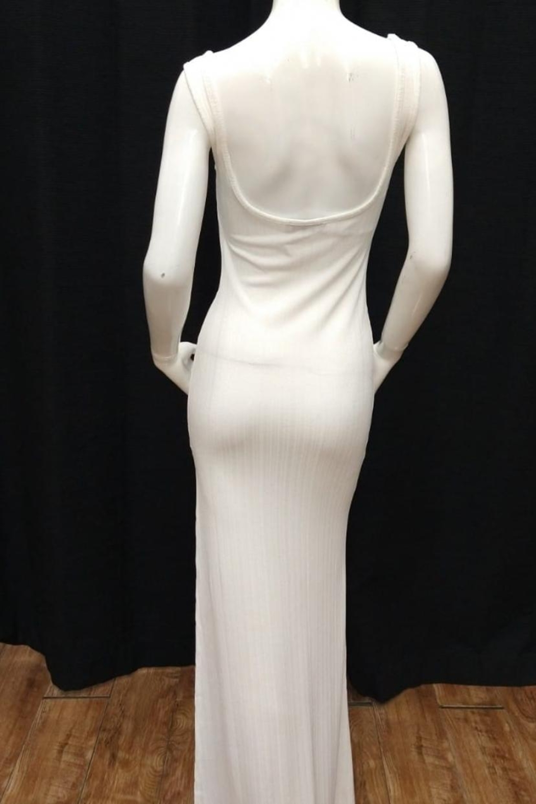 Chikas Off-White Maxi Dress - Front Full Image