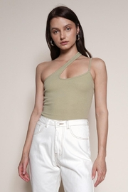Chikas One-Shoulder Cut-Out Top - Product Mini Image