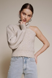 Chikas One Shoulder Sweater - Front cropped