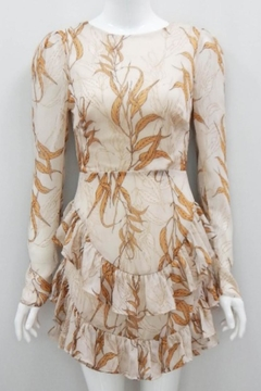 Chikas Open-Back Leaves Dress - Product List Image