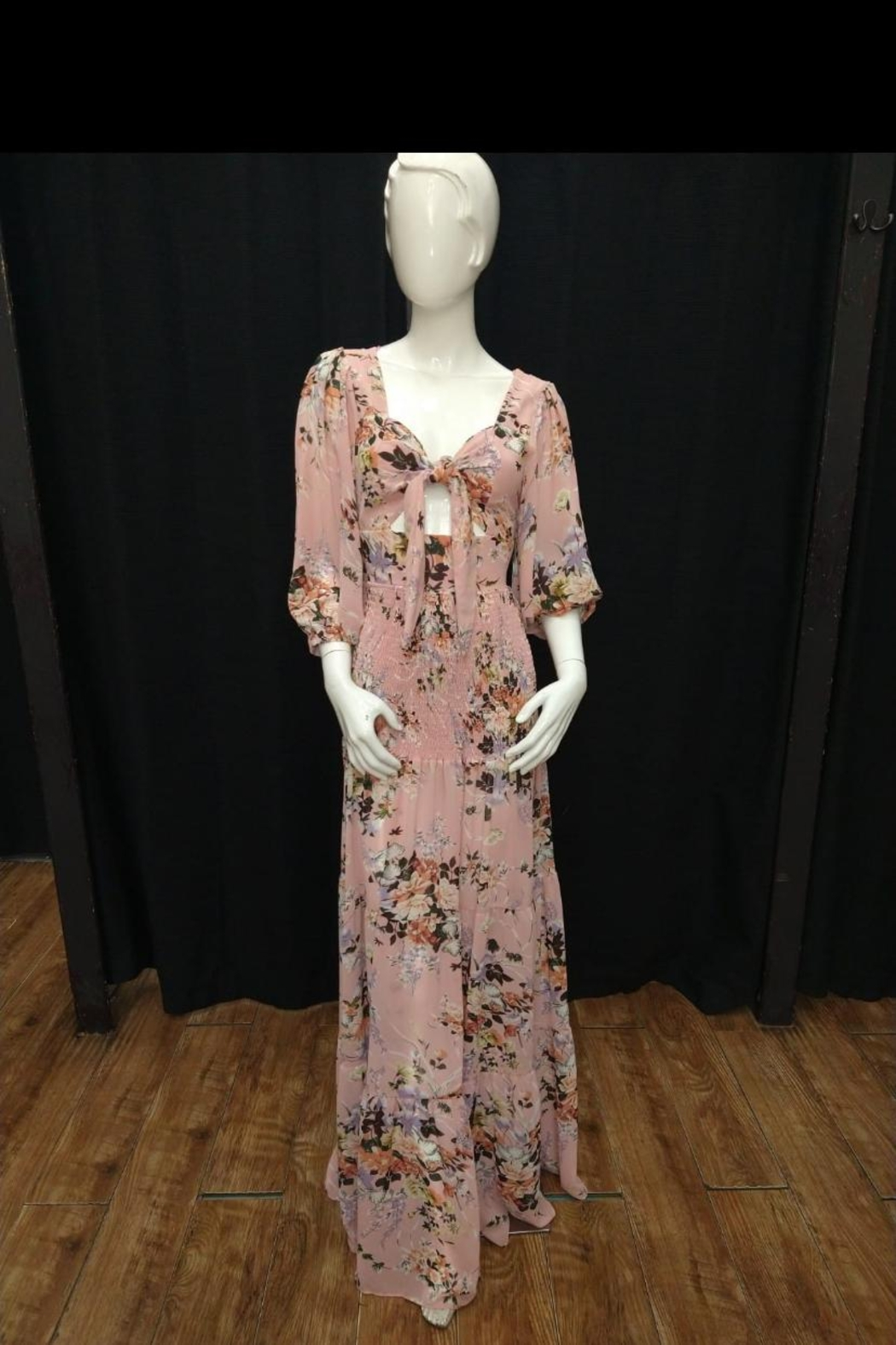 Chikas Open-Front Floral Maxi - Main Image