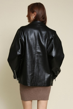 Chikas Oversized Faux-Leather Jacket - Alternate List Image