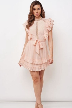 Chikas Peach Mini Dress - Product List Image