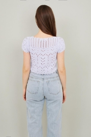 Chikas Periwinkle Crochet Top - Front full body