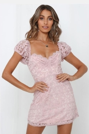 Chikas Pink Crochet Dress - Product Mini Image