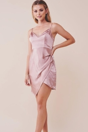 Chikas Pink Satin Dress - Product Mini Image